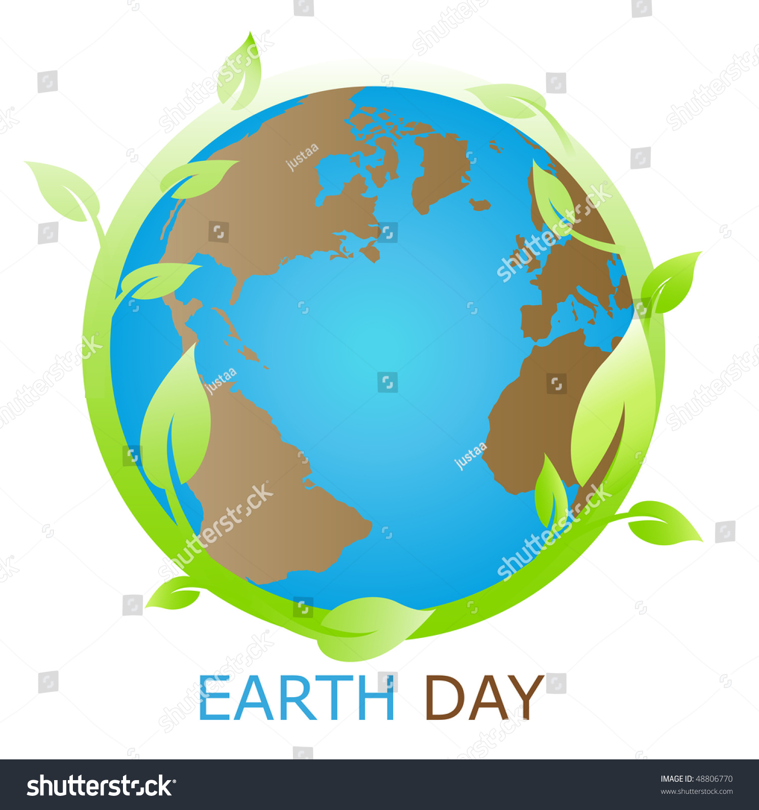 Planet symbol earth day stock vector 48806770 shutterstock planet symbol earth day buycottarizona