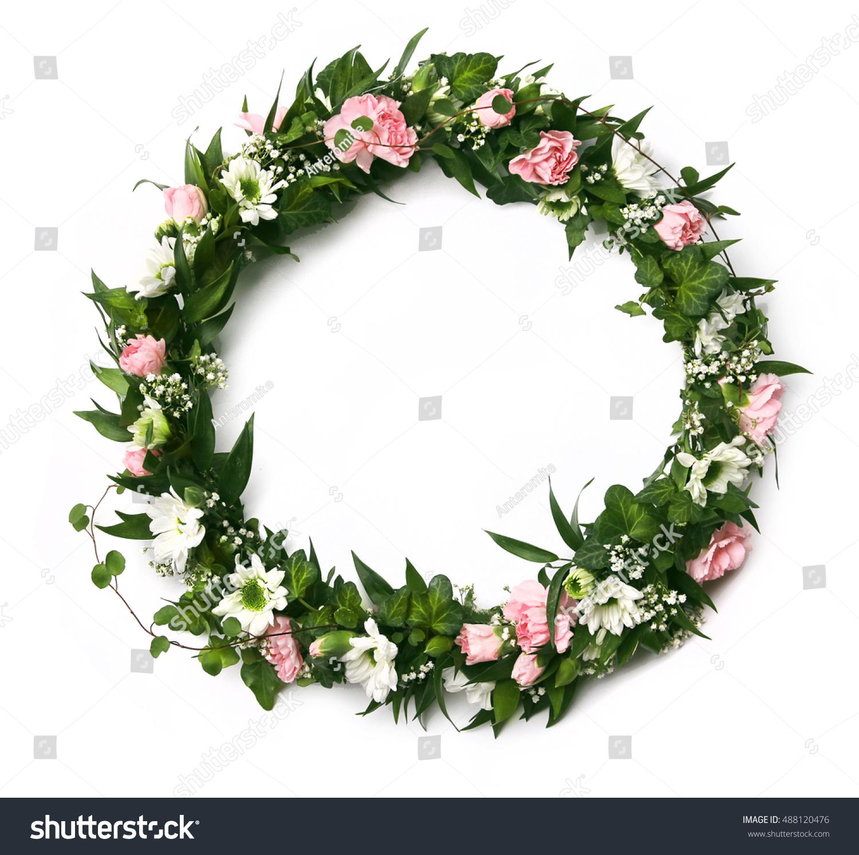 Beautiful Pink White Fresh Green Flower Stock Photo Image Royalty