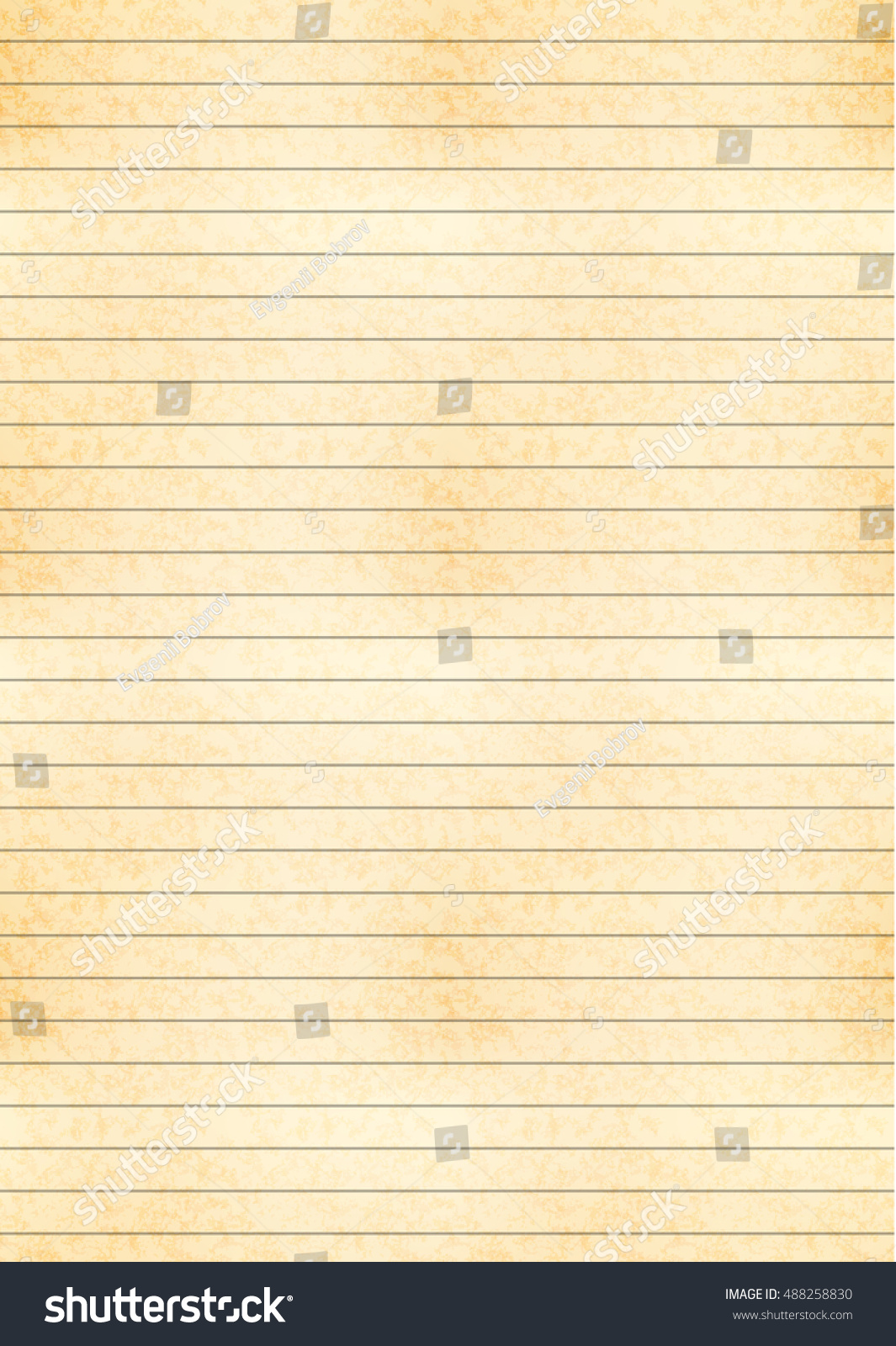 vertical a 4 size yellow sheet old stock vector royalty free