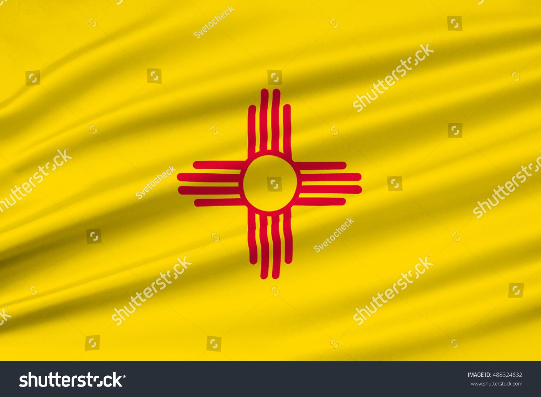 Flag new mexico state united states stock illustration 488324632 flag of new mexico is a state of united states 3d illustration buycottarizona