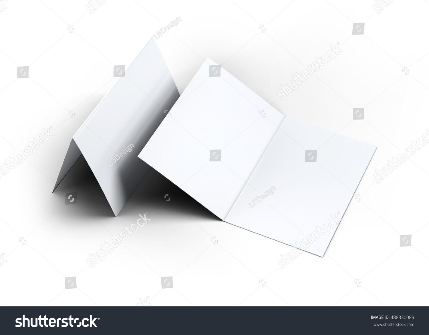 Folded Business Card Mockup 3 D Illustration Stock Illustration ...