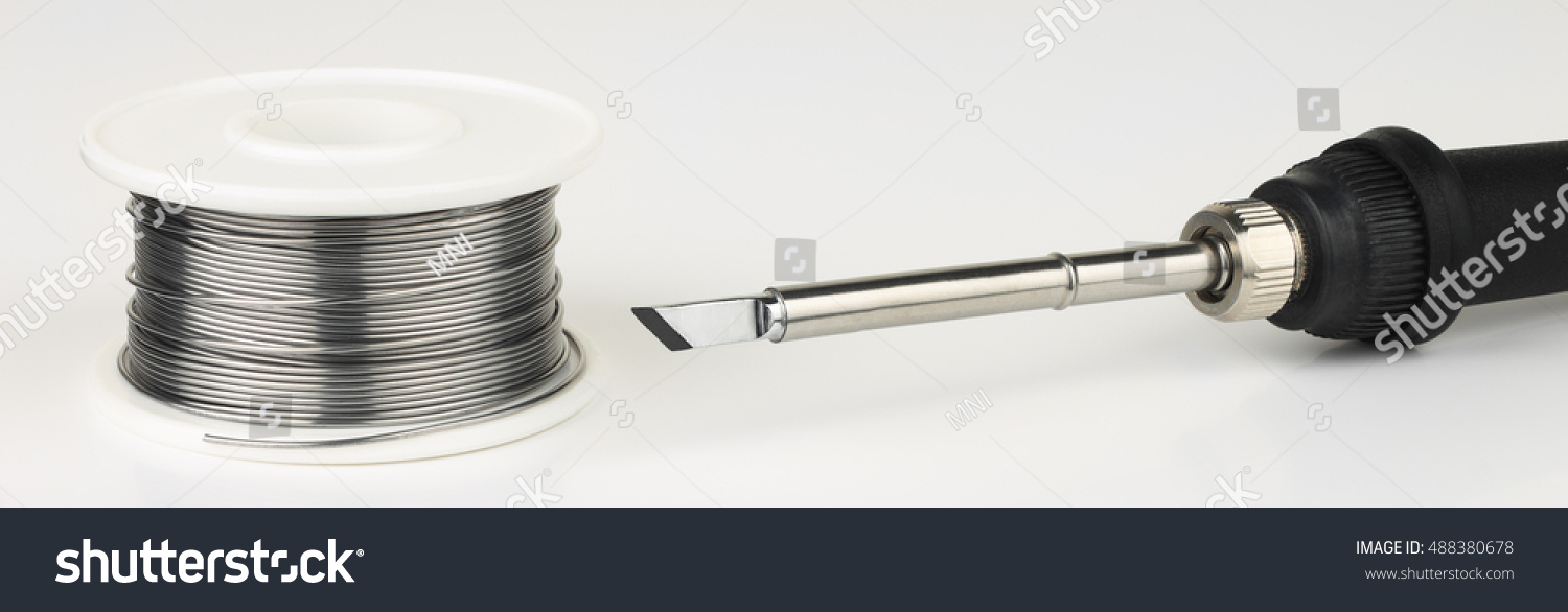 Soldering Iron Solder Wire On White Stock Photo (Royalty Free ...