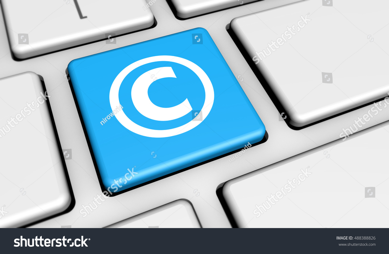 Digital copyrighting laws conceptual 3d illustration stock digital copyrighting laws conceptual 3d illustration with copyright symbol and icon on a computer key biocorpaavc Gallery