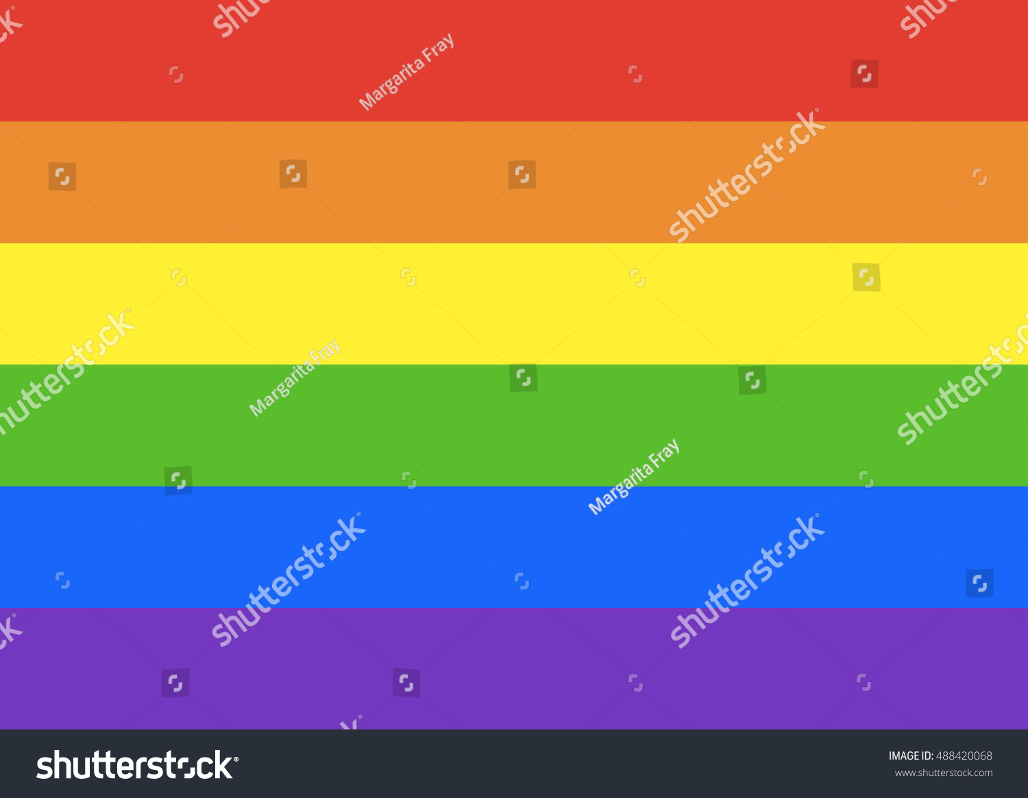 6 Colors Of Rainbow LGBT Flag Background Vector Illustration