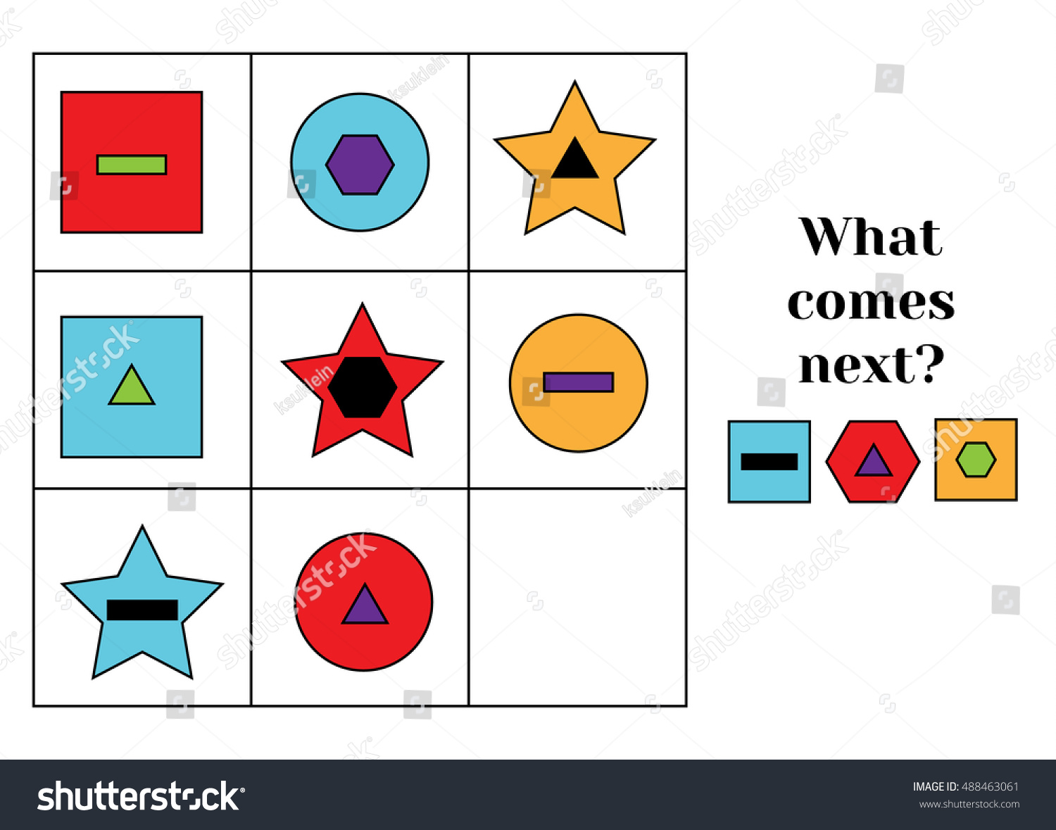 what comes next educational children game stock vector royalty free