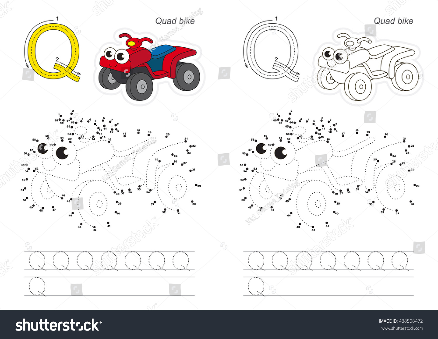 Vector exercise alphabet kid educational games stock vector vector exercise for alphabet with kid educational games to learn handwriting with easy game level robcynllc Image collections