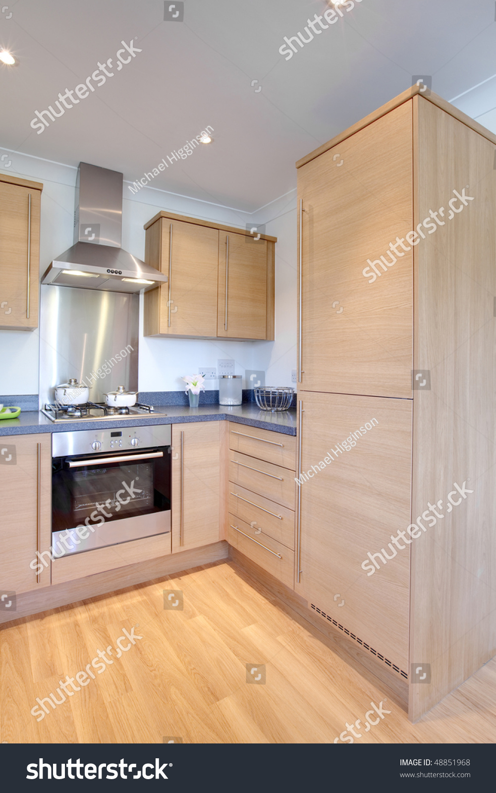 Modern Chic Kitchen With Fitted Appliances Within Small