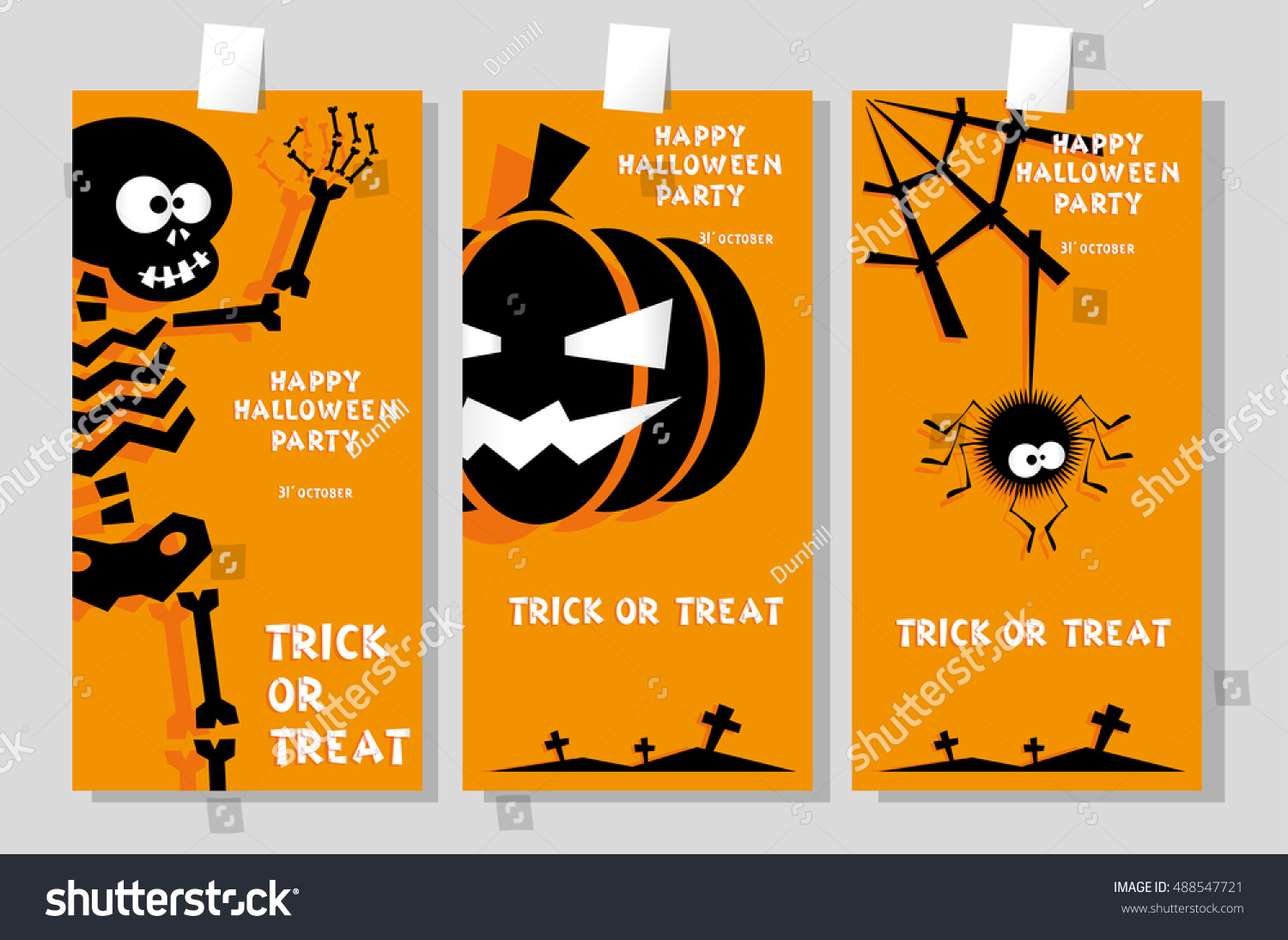 Set Funny Holiday Banner Title Happy Stock Vector 488547721 ...