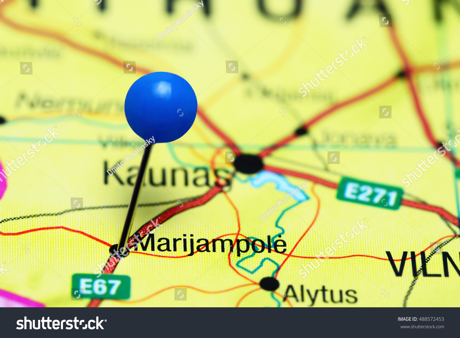 Marijampole Pinned On Map Lithuania Stock Photo Edit Now 488572453 E67 Wiring Diagram A Of