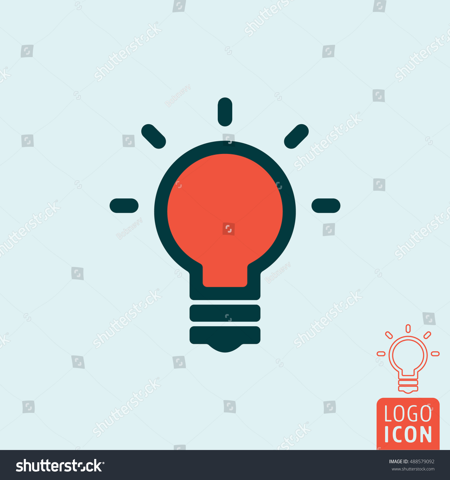 Light Bulb Icon Idea Bulb Symbol Stock Vector Royalty Free