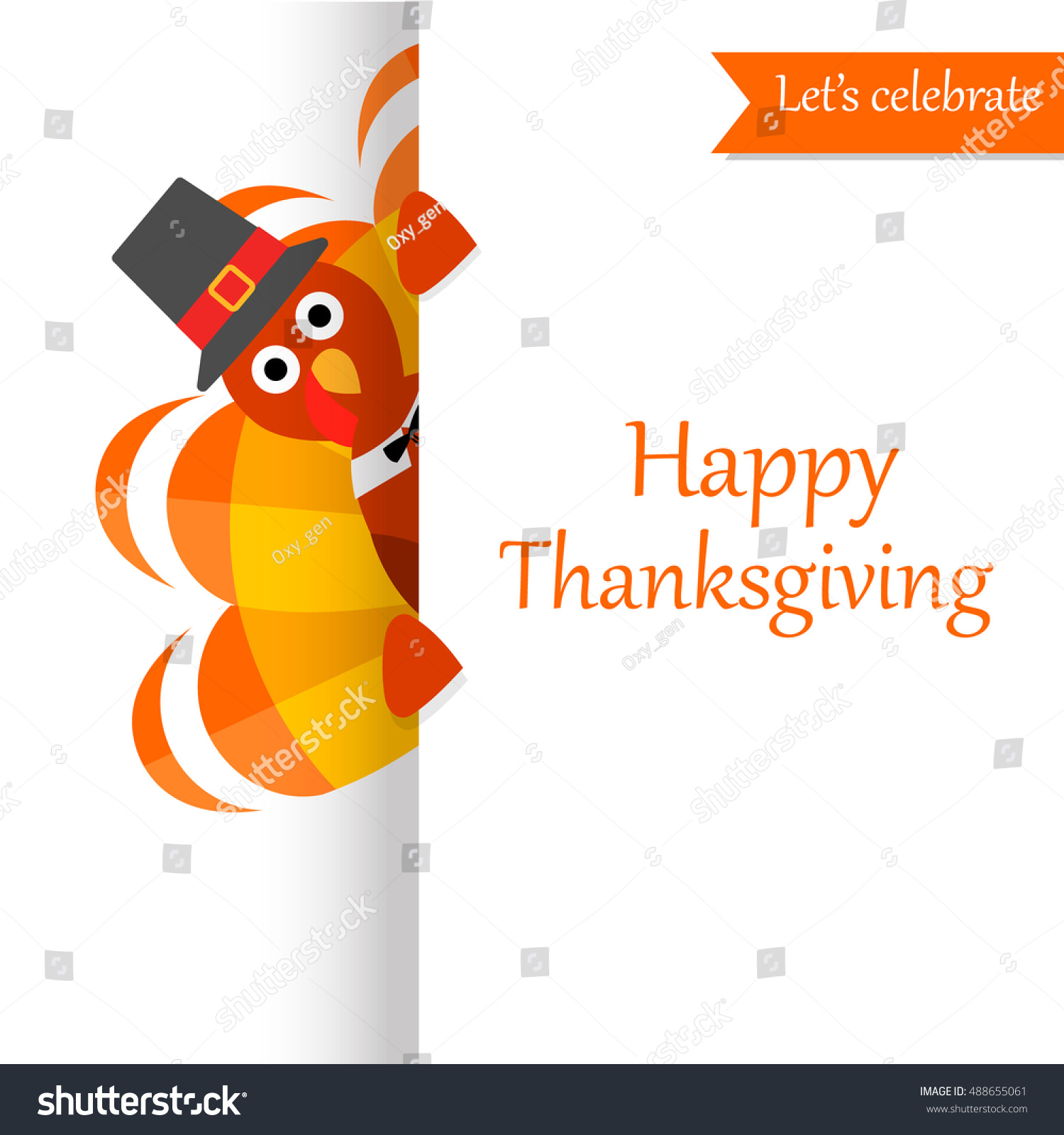 Happy thanksgiving day festive greeting card stock vector royalty happy thanksgiving day festive greeting card with funny turkey character can be used for poster m4hsunfo