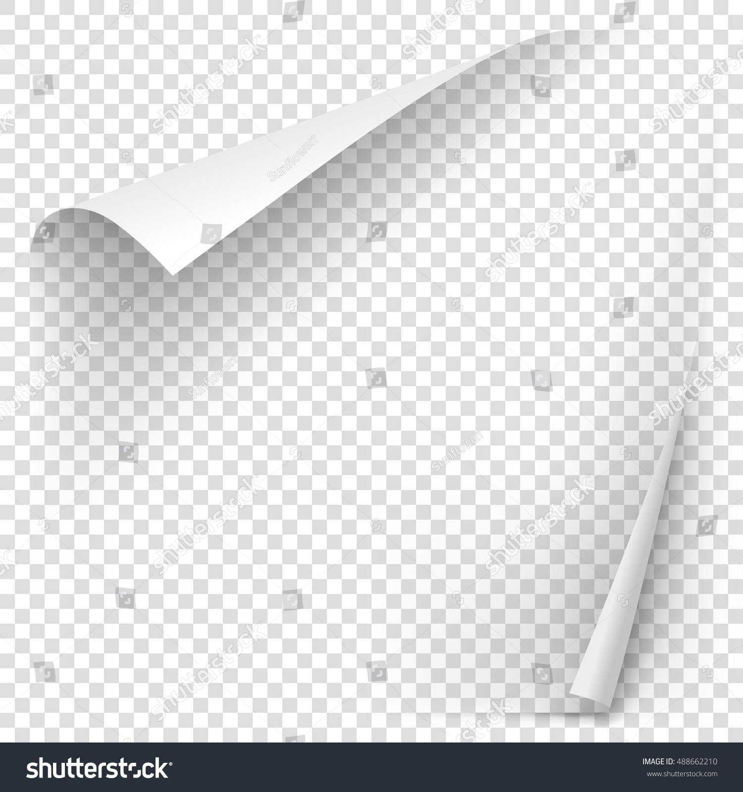 white gradient paper curl shadow isolated stock vector  white gradient paper curl shadow isolated on transparent background vector sticker paper note for