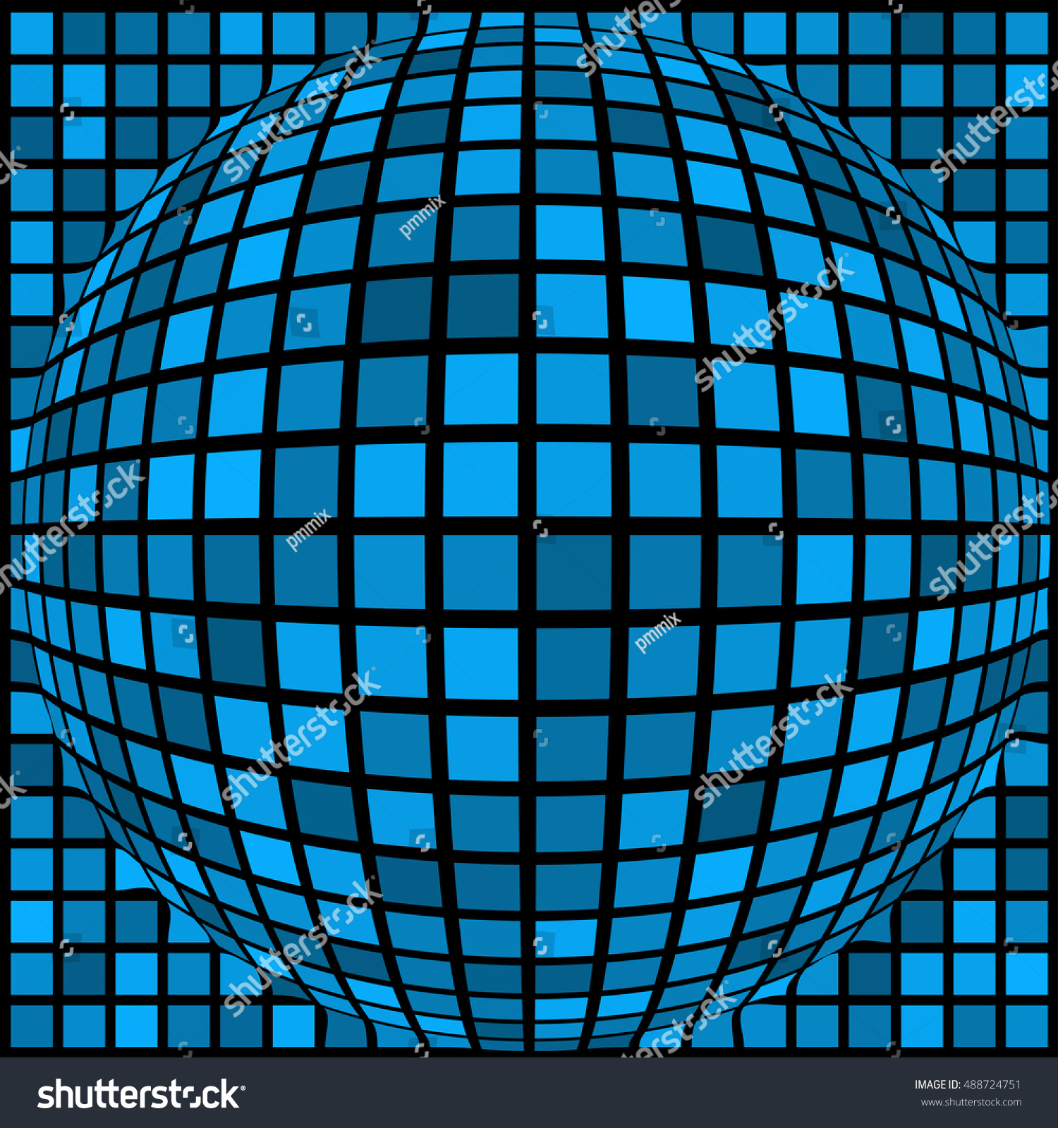 Ball Blue Squares Different Sizes Black Stock Vector 488724751 ...