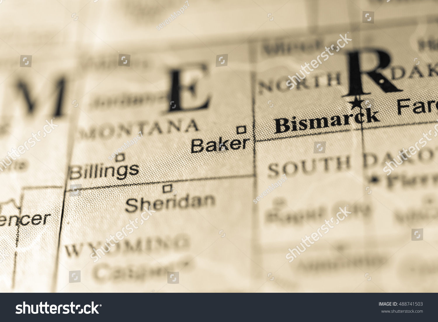 Royalty Free Closeup Of Baker Montana On A 488741503 Stock Photo