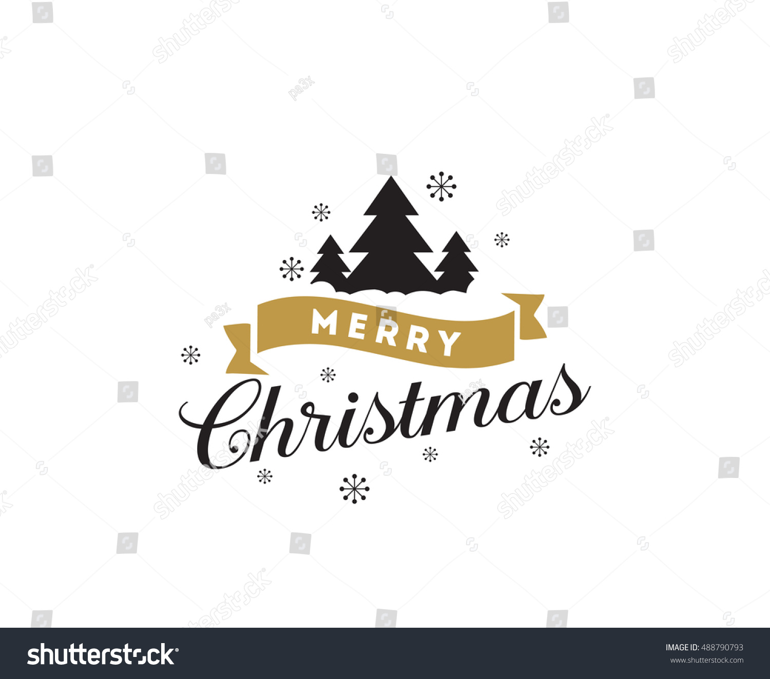 Merry christmas text design vector logo stock vector 488790793 merry christmas text design vector logo typography usable as banner greeting card kristyandbryce Image collections