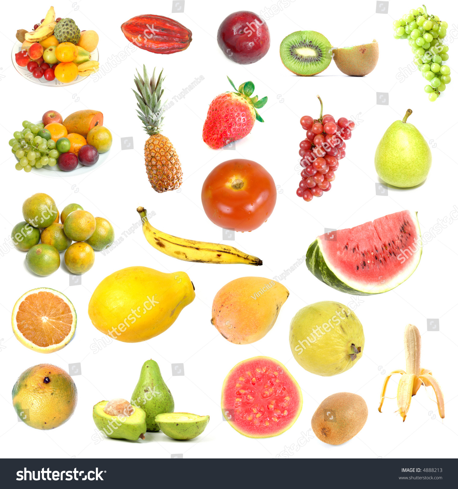 Collection Several Types Fruits 2 Stock Photo 4888213 - Shutterstock