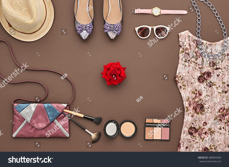 Trendy Fashion Design Outfit Fashion Woman Stock Photo