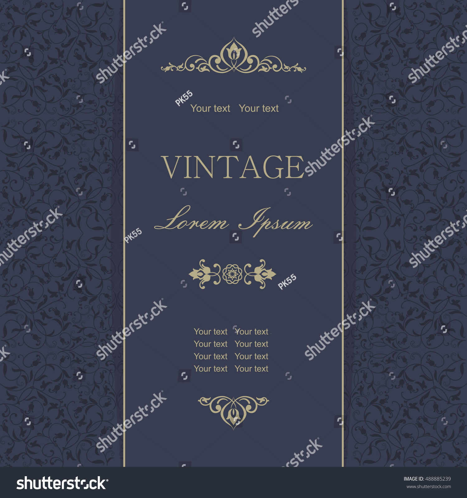 Template greeting cards invitations advertising banners stock template greeting cards invitations and advertising banners brochures with space for text vintage kristyandbryce Images