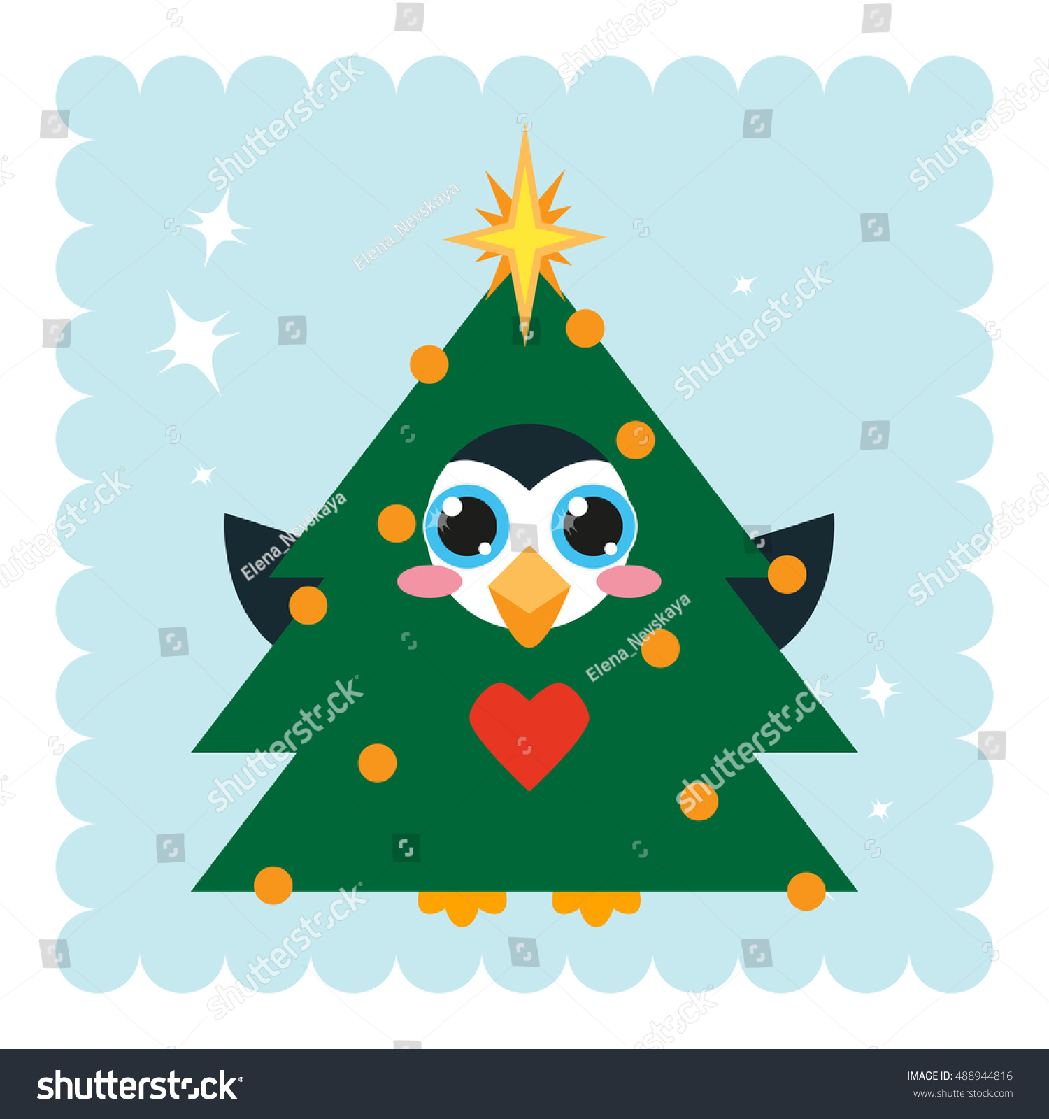 Kawaii Anime Penguin Big Sparkle Eyes Stock Vector Royalty Free 488944816 Christmas is a very special time of the year where every kid eagerly look forward to have some fun. https www shutterstock com image vector kawaii anime penguin big sparkle eyes 488944816