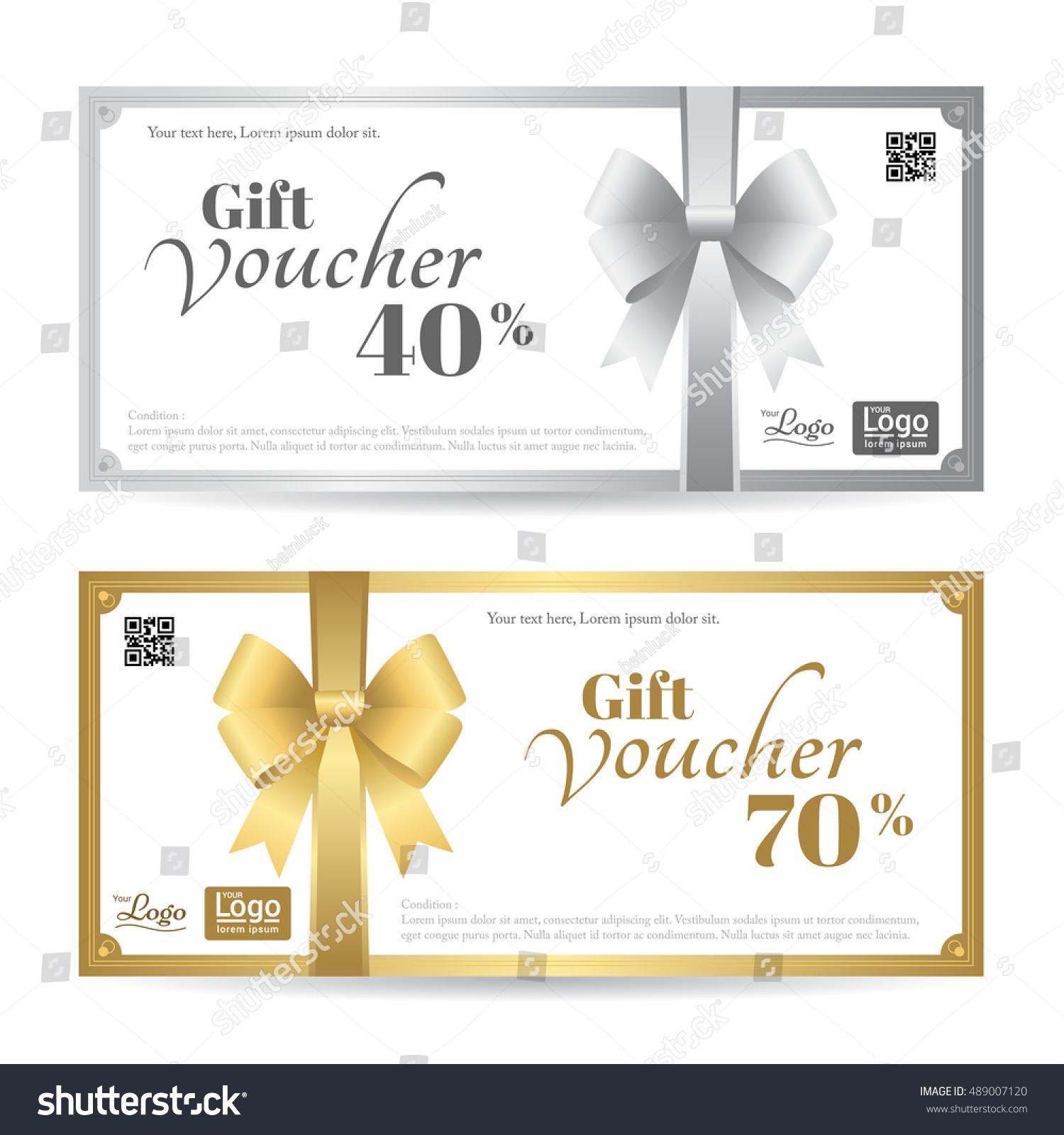Elegant Gift Card Gift Voucher Template Stock Vector Royalty Free