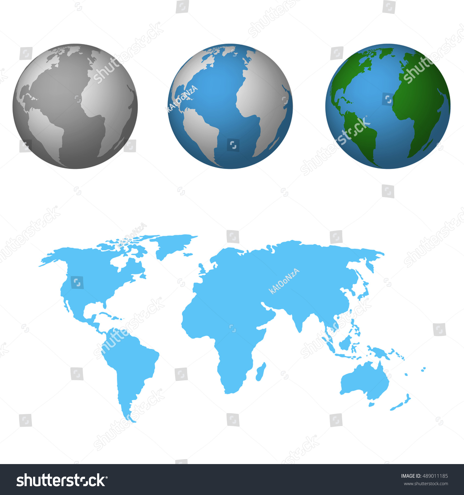 Earth world map flat icon vector stock vector 489011185 shutterstock earth with world map flat icon vector illustration gumiabroncs Image collections