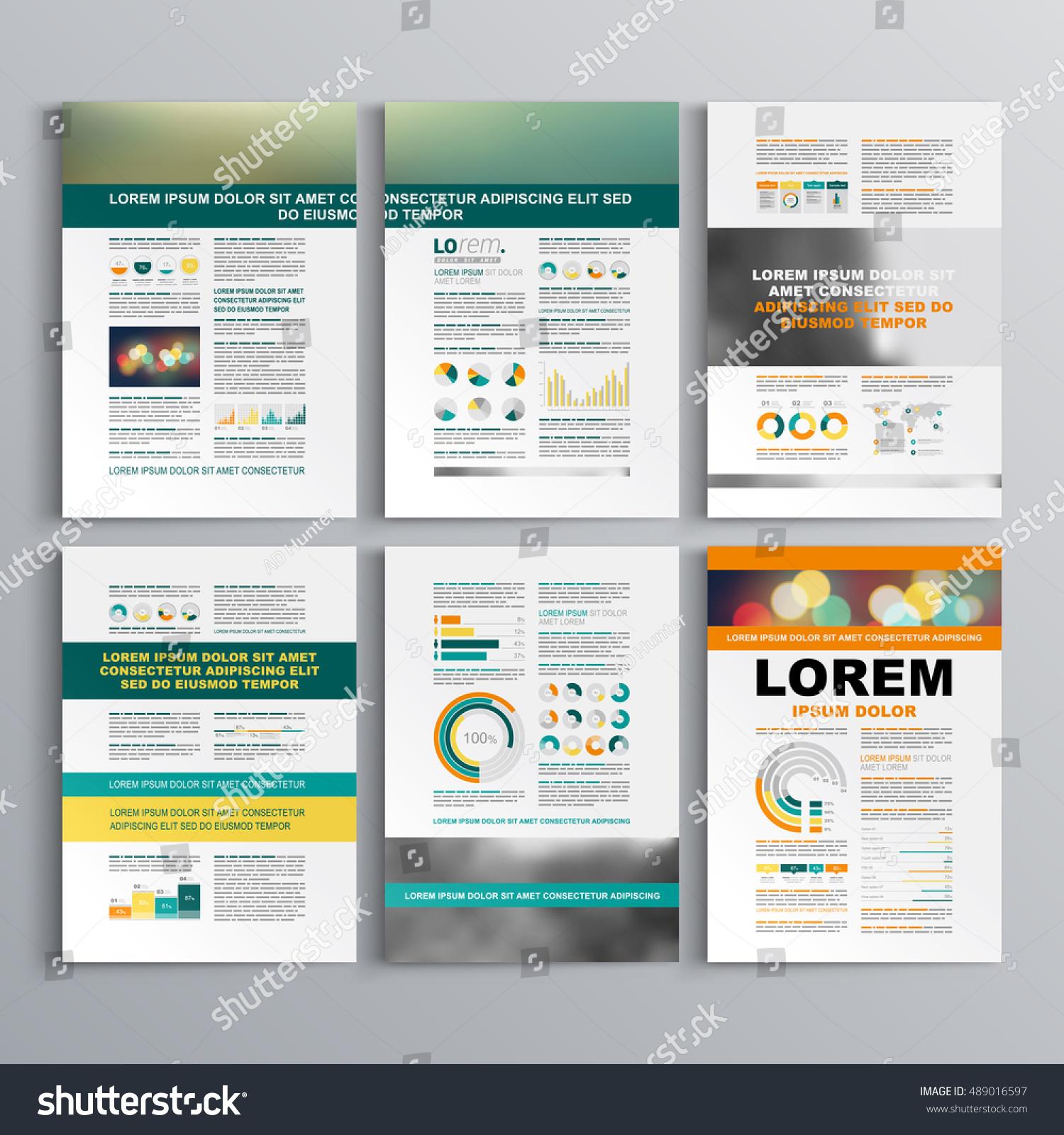 Classic Business Brochure Template Design Green Stock Vector