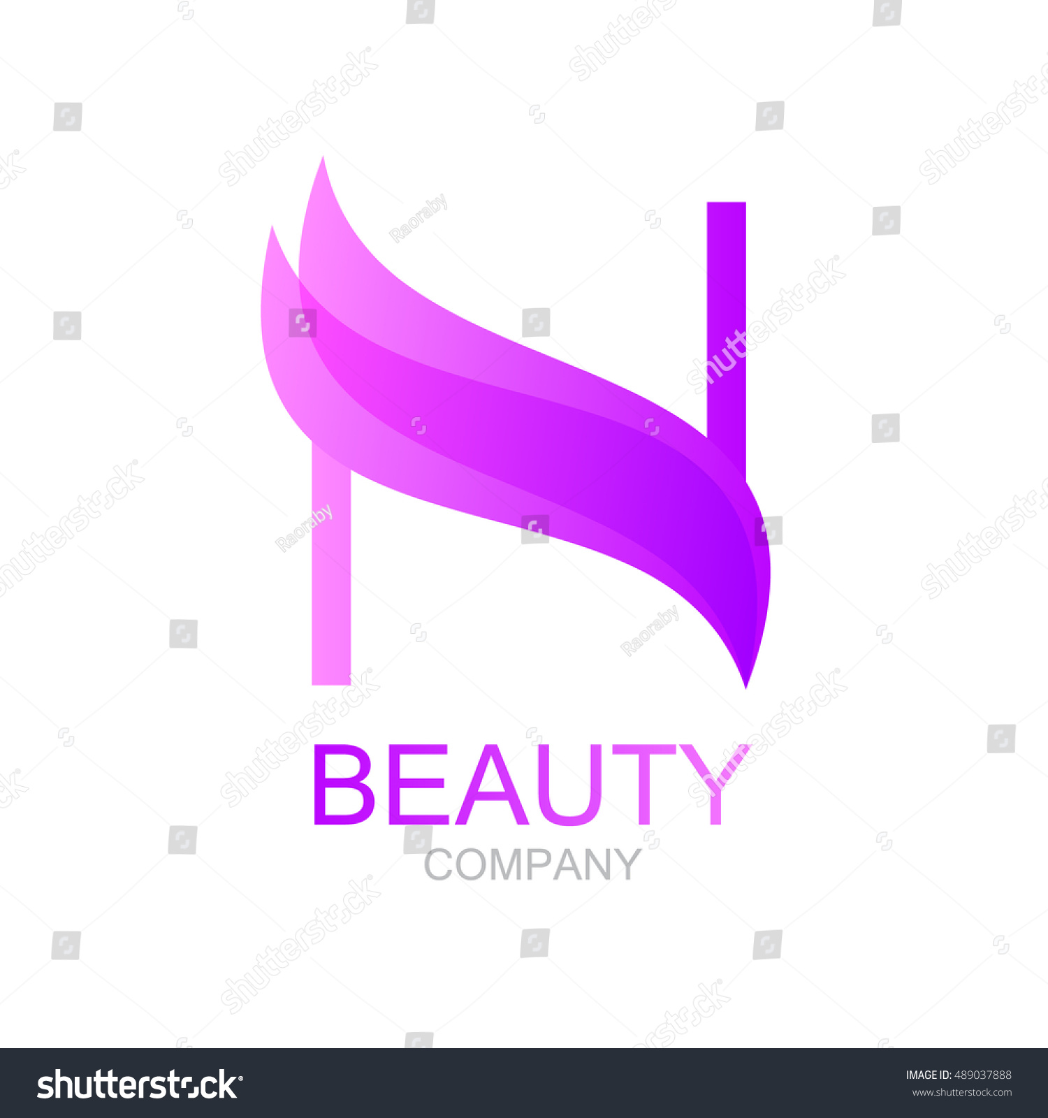 abstract letter n logo design template stock vector royalty free
