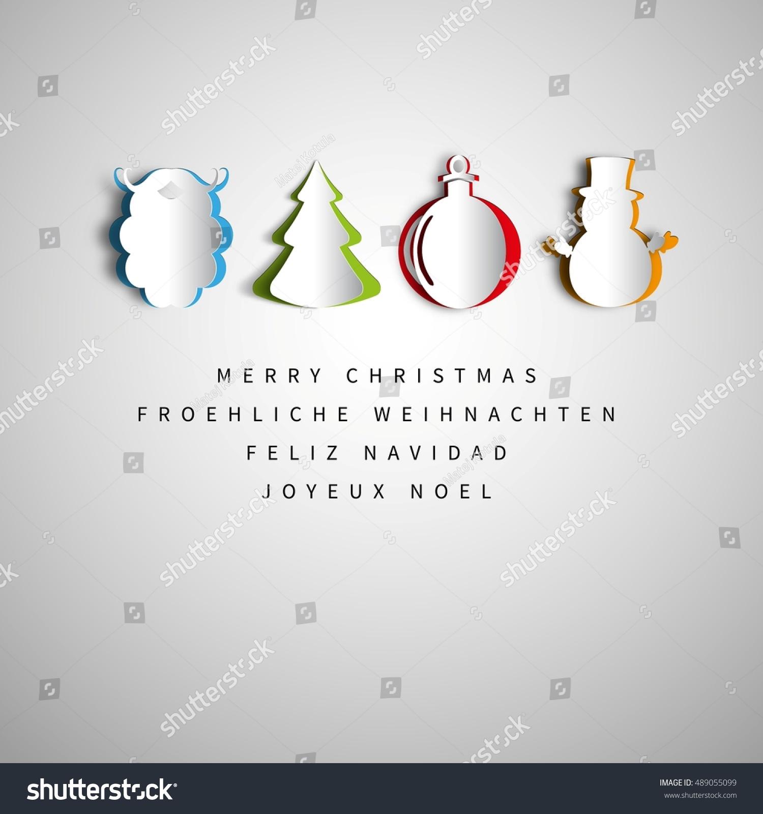 Merry christmas holiday greeting design set stock vector 489055099 merry christmas holiday greeting design set in papercut santa claus beard snowman christmas kristyandbryce Gallery
