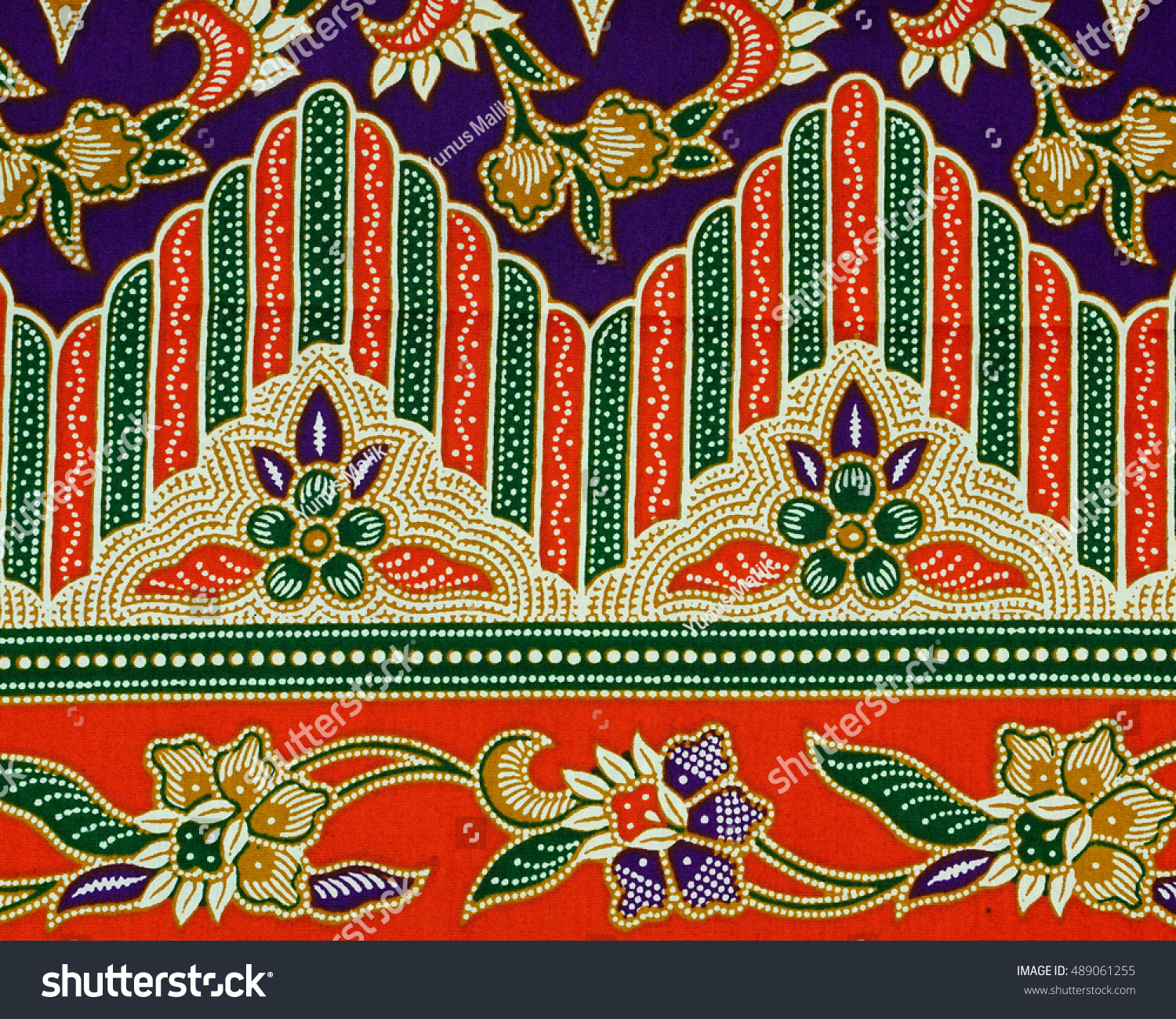 Beautiful Art Malaysian Indonesian Batik Pattern Stock