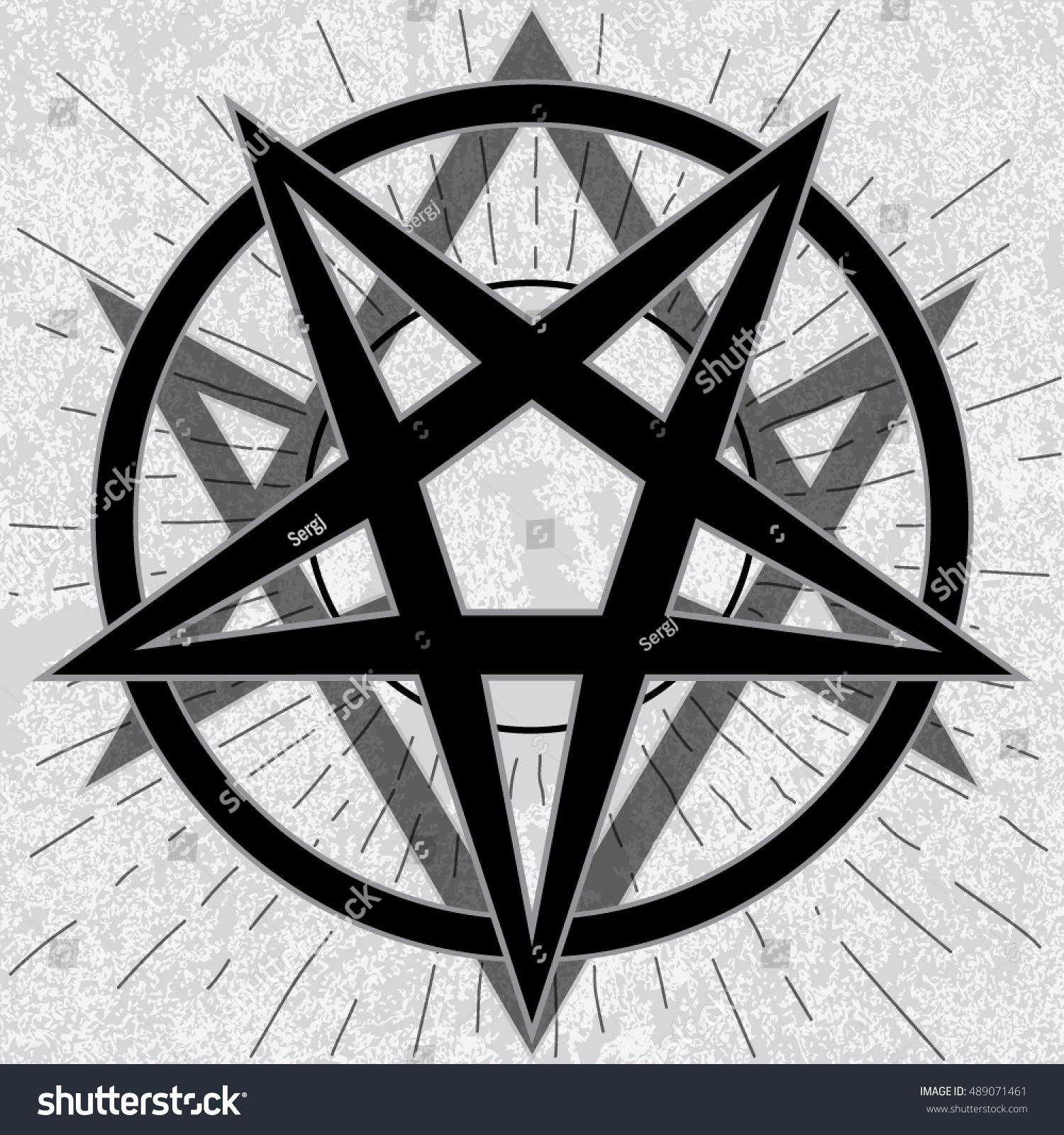 Baphomet sign thelema hexagram stylish pentagram stock vector baphomet sign with thelema hexagram stylish pentagram with thelema sigil on grunge background and star biocorpaavc Choice Image