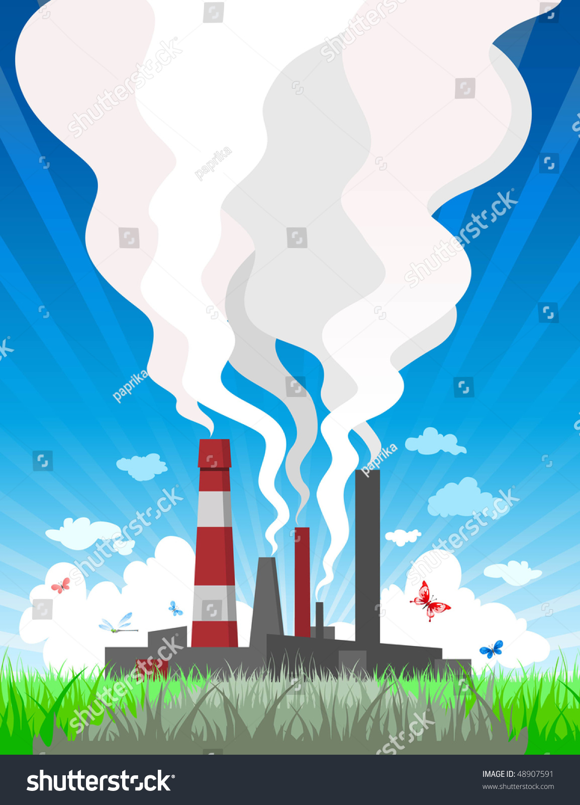 Air Pollution Stock Vector 48907591 - Shutterstock