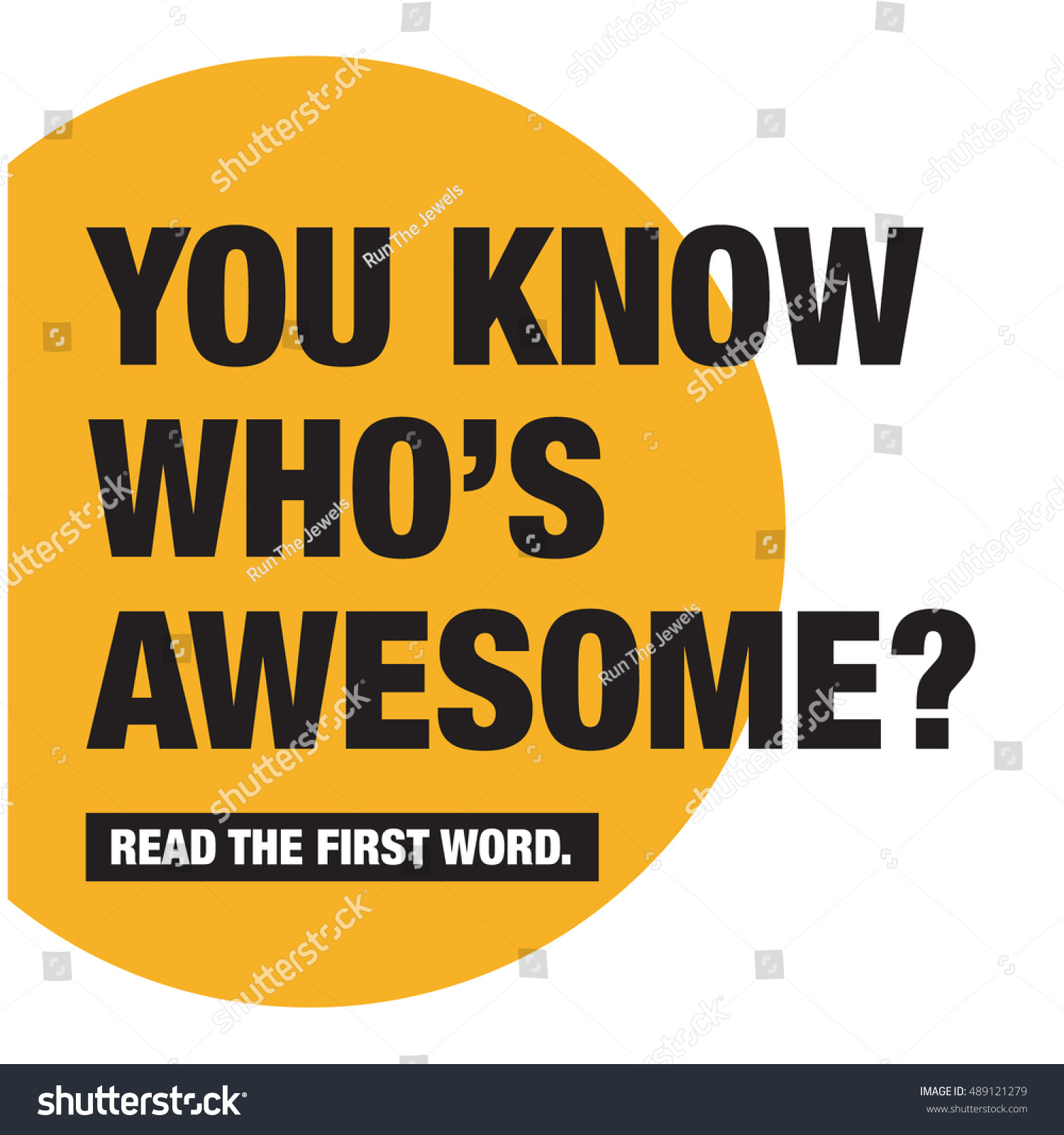 You Know Whos Read First Word Stock Vector Royalty Free 489121279