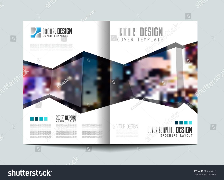 Brochure Template Flyer Design Depliant Cover Stock Illustration