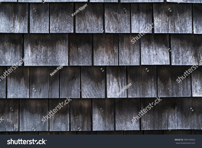 Cedar Shake Shingles On Nantucket Stock Photo 489140563
