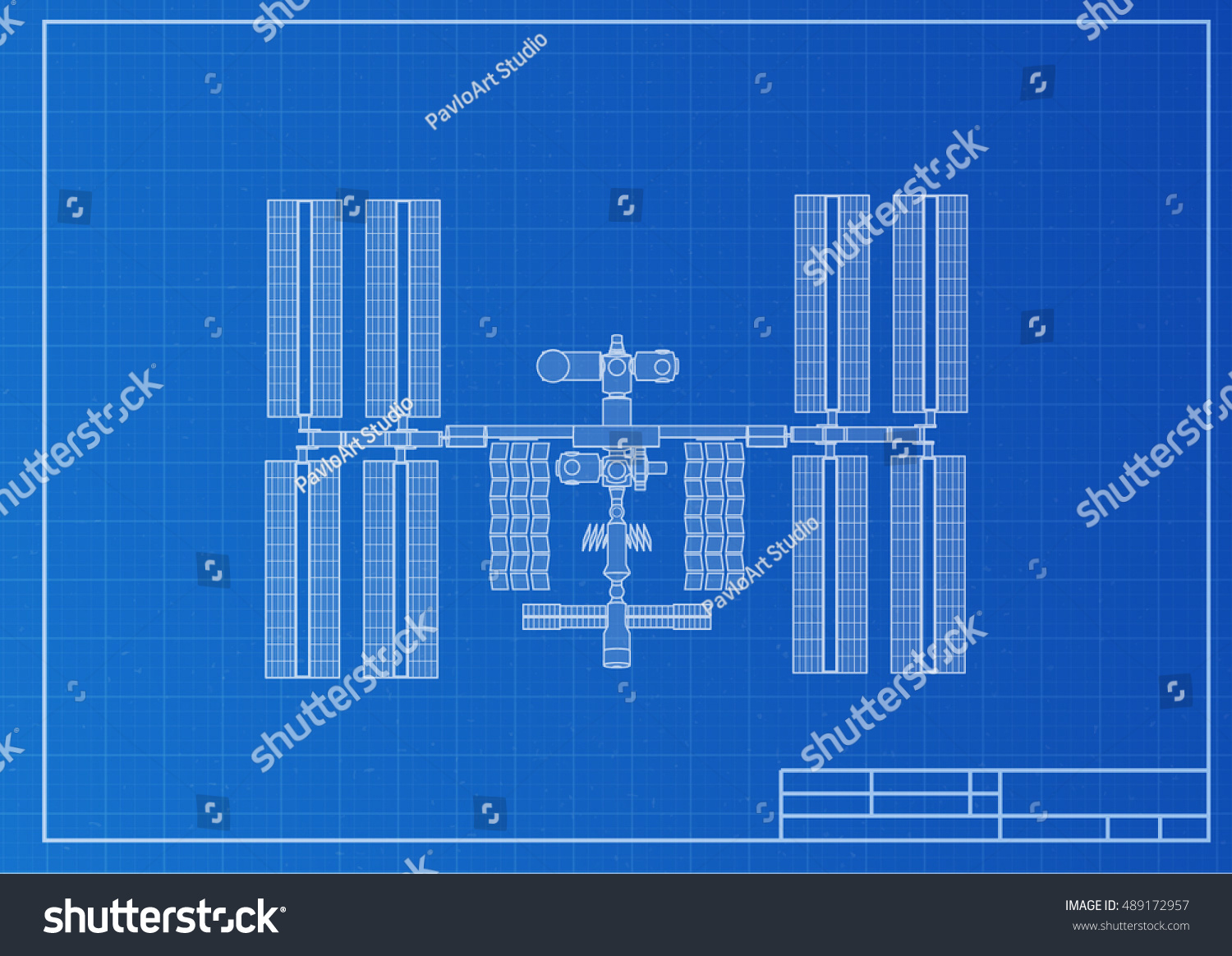 International space station plot on blueprint vectores en stock international space station plot on blueprint background vector illustration malvernweather Image collections