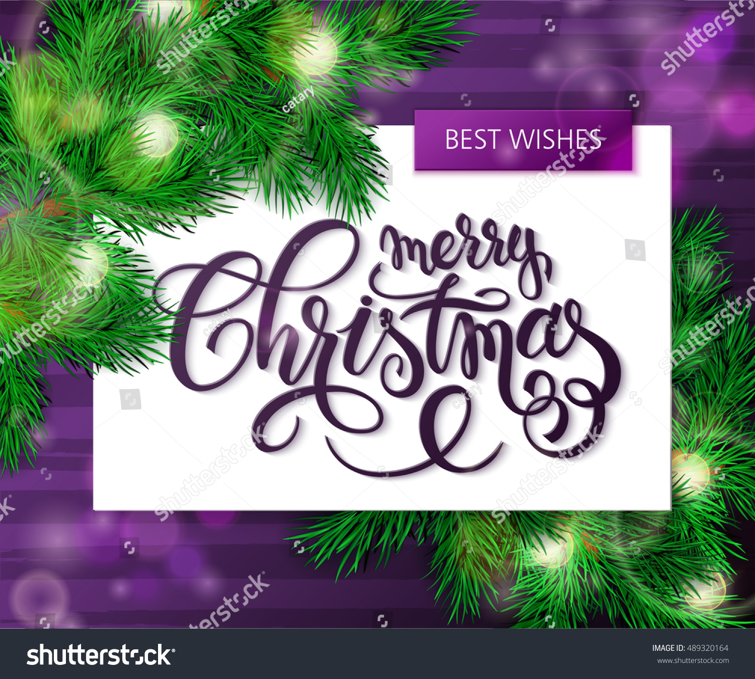 Vector Hand Drawn Christmas Lettering Greetings Stock Vector