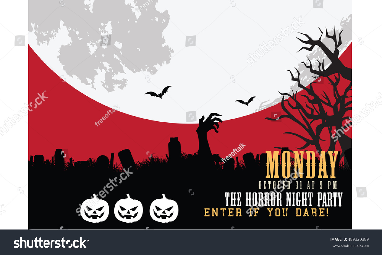 halloween night party invitation card - Halloween Night Party