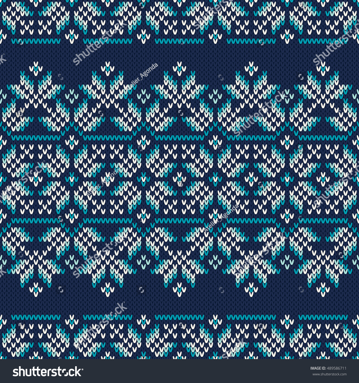 Winter Holiday Fair Isle Knitted Pattern Stock Vector HD (Royalty ...