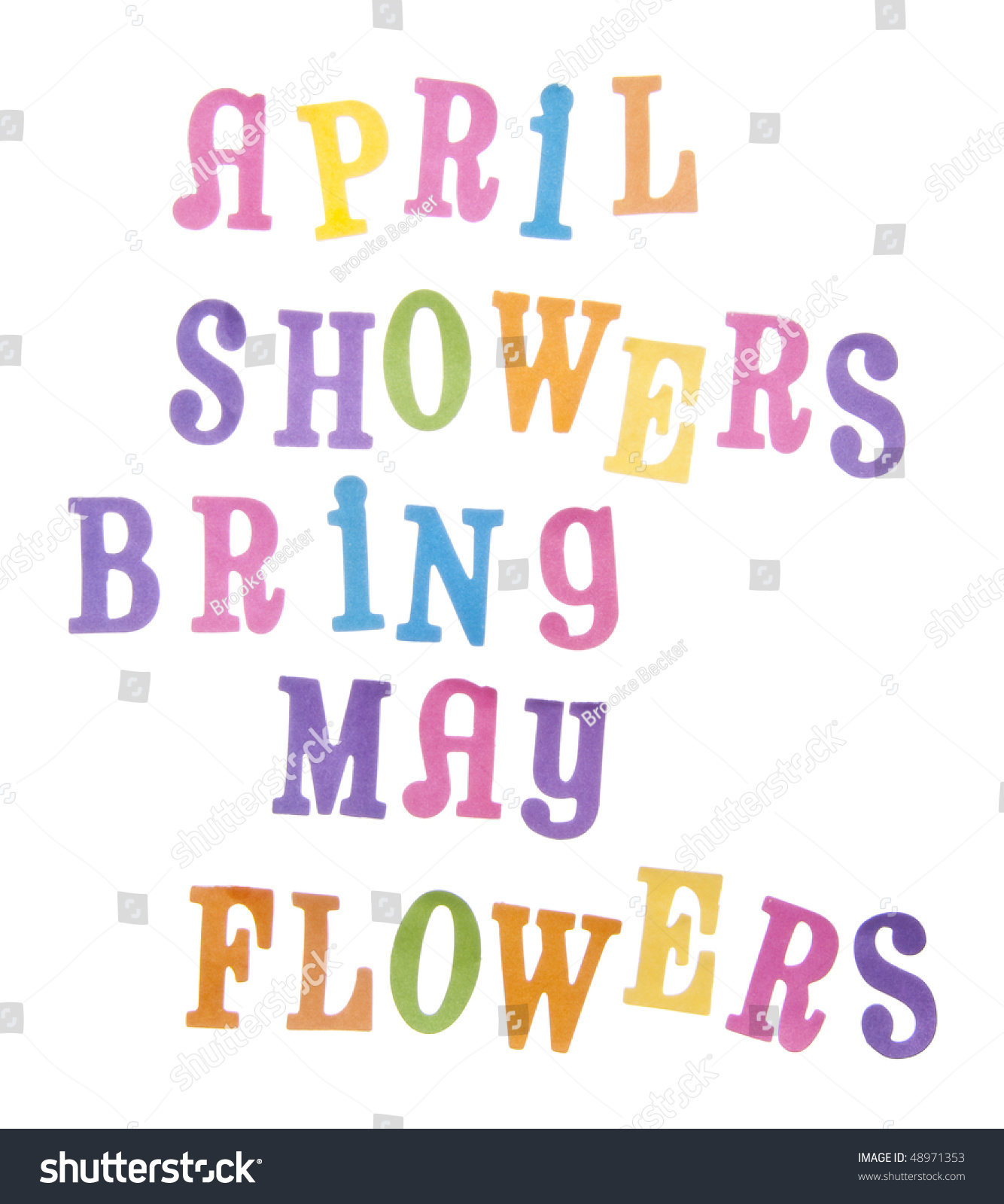 Popular saying april showers bring may stock photo edit now the popular saying april showers bring may flowers in vibrant pastel colors isolated on white with mightylinksfo