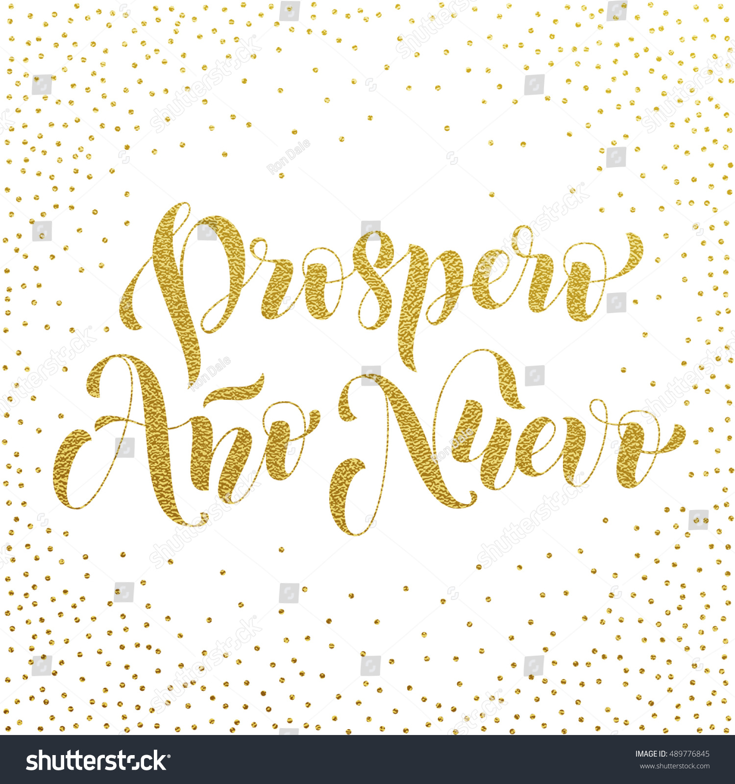 Prospero ano nuevo gold glitter modern stock vector 489776845 prospero ano nuevo gold glitter modern lettering for spanish happy new year greeting holiday card kristyandbryce Images