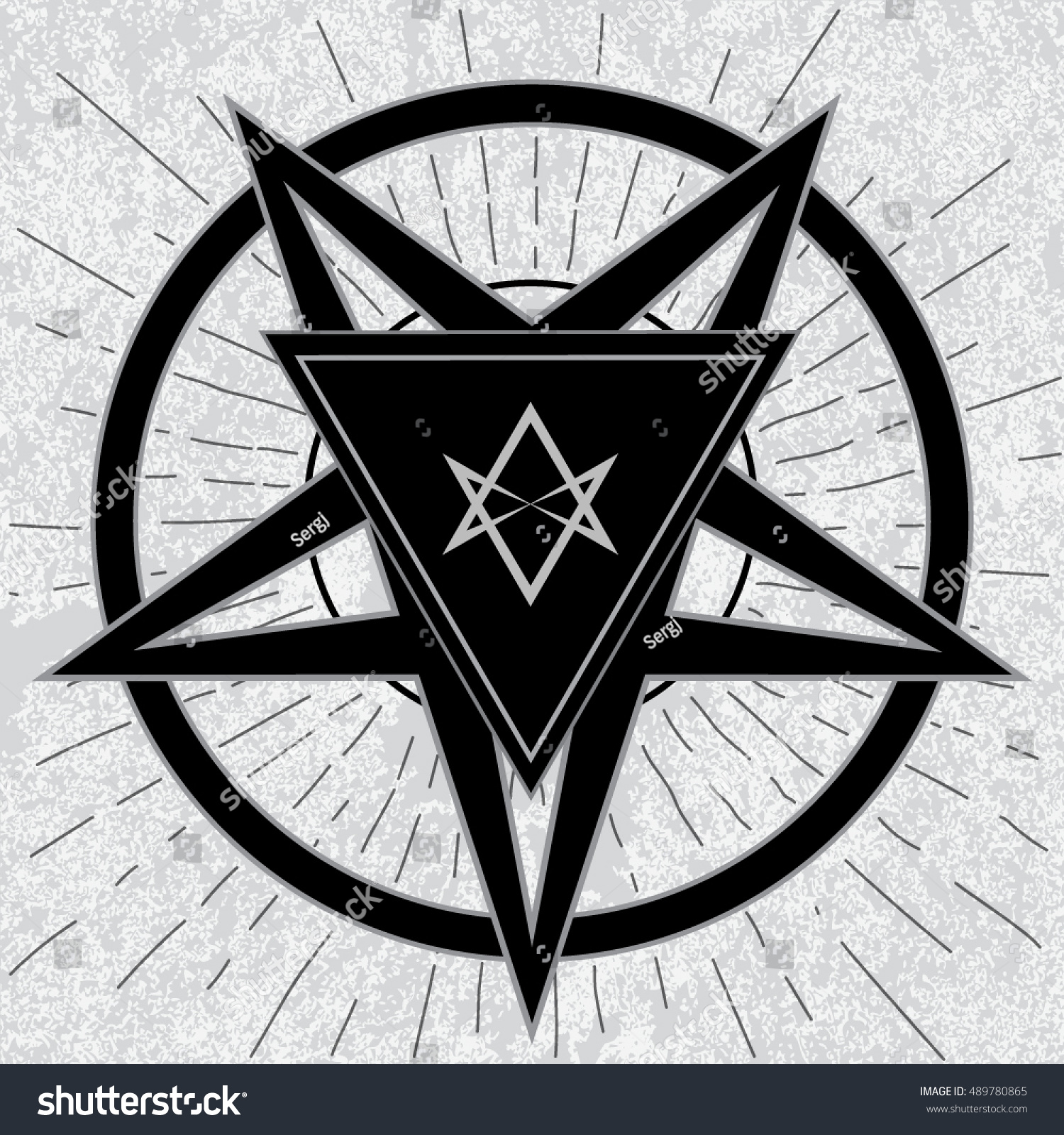 Baphomet sign thelema hexagram stylish pentagram stock vector baphomet sign with thelema hexagram stylish pentagram with thelema sigil inside triangle on grunge background buycottarizona