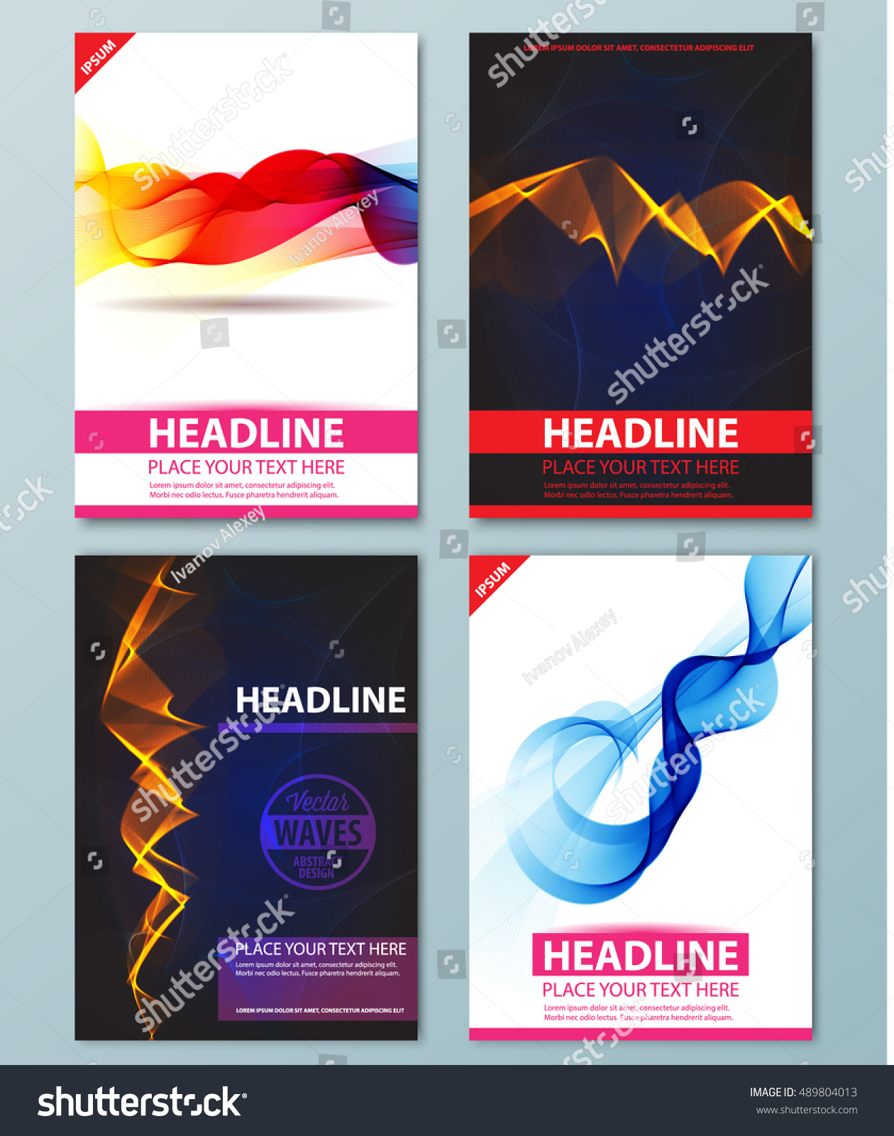 Abstract Background Flyer Brochure Poster Presentation Stock Vector ...