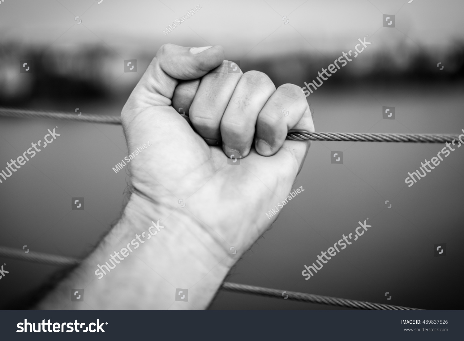 Hand Pulling Wire Stock Photo (Royalty Free) 489837526 - Shutterstock