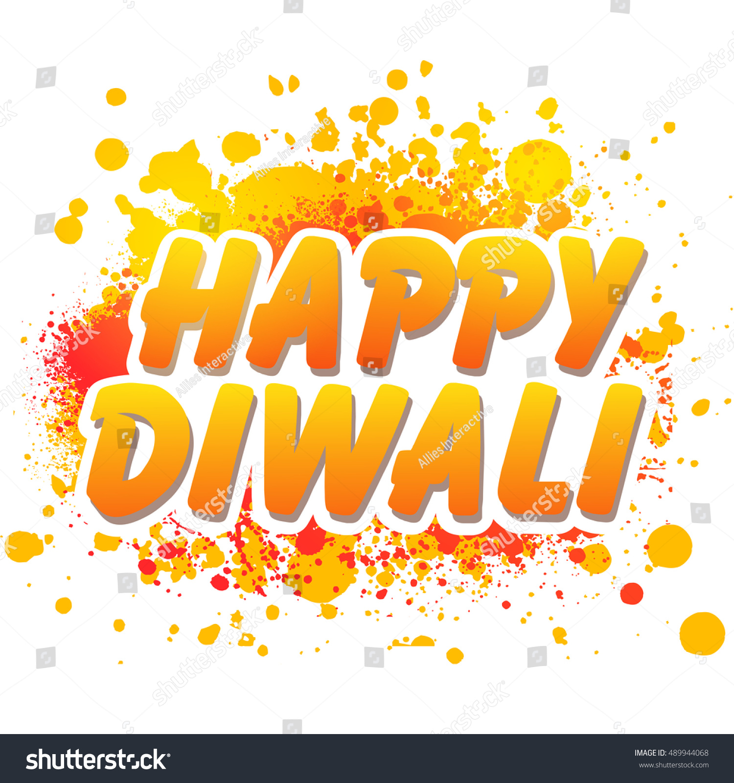 Stylish Text Happy Diwali On Colourful Stock Vector Royalty Free