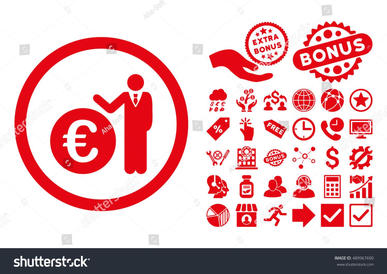 euro economist icon bonus pictures vector stock vector
