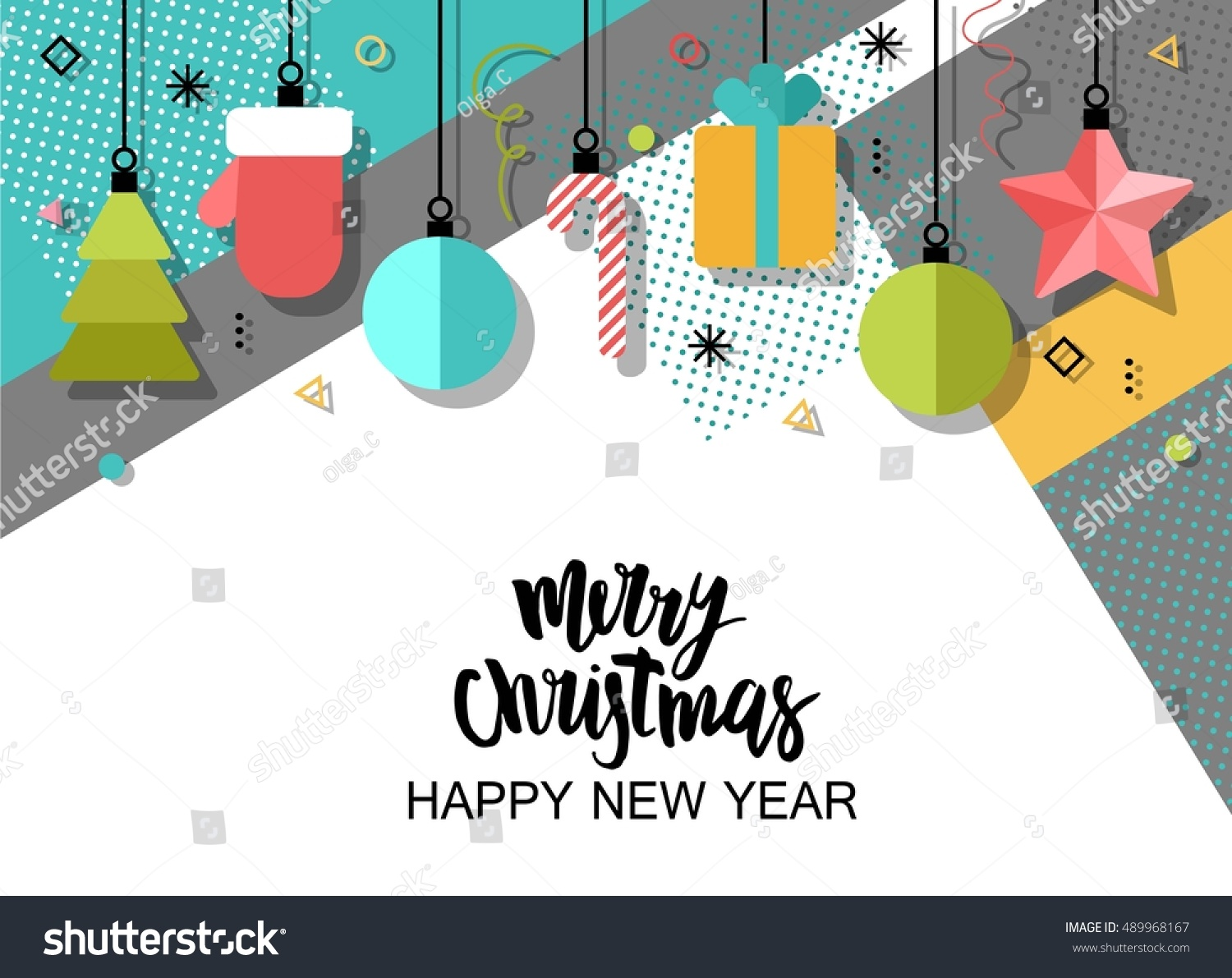 Merry christmas new year flat design stock vector 489968167 merry christmas new year flat design stock vector 489968167 shutterstock stopboris Gallery