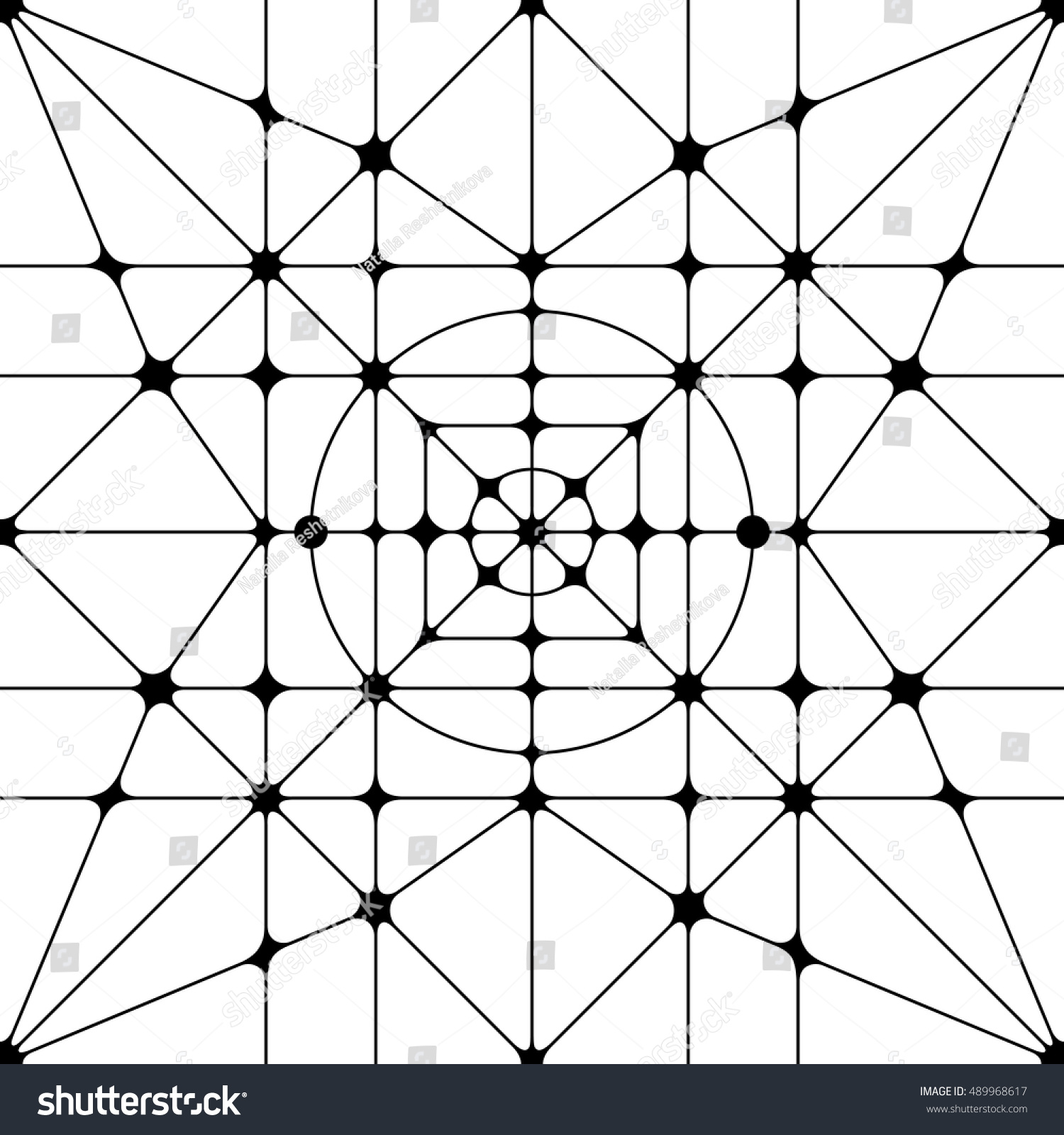 Vector seamless pattern abstract geometric texture stock for Object pool design pattern