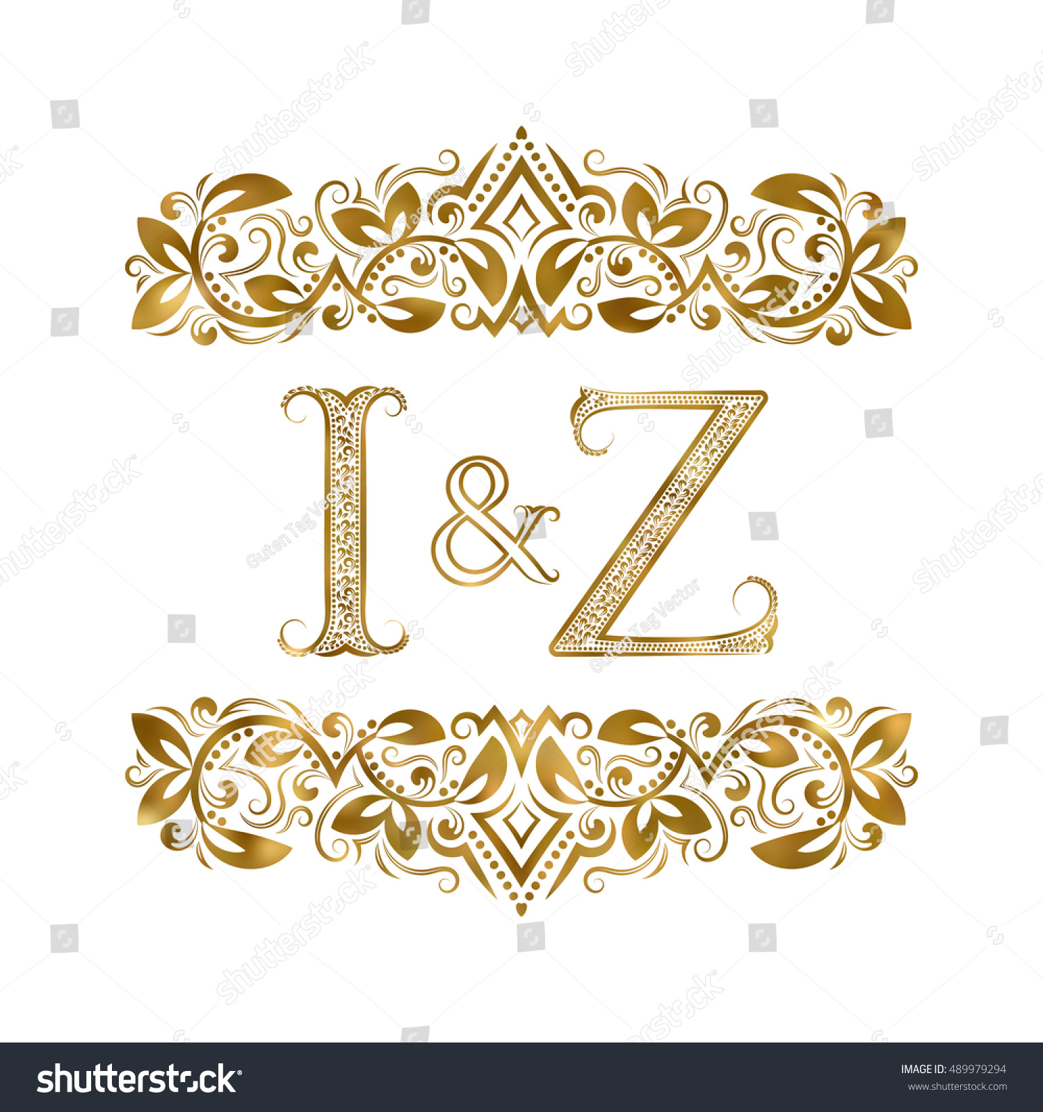 Z vintage initials logo symbol letters stock vector 489979294 i and z vintage initials logo symbol the letters are surrounded by ornamental elements biocorpaavc Choice Image