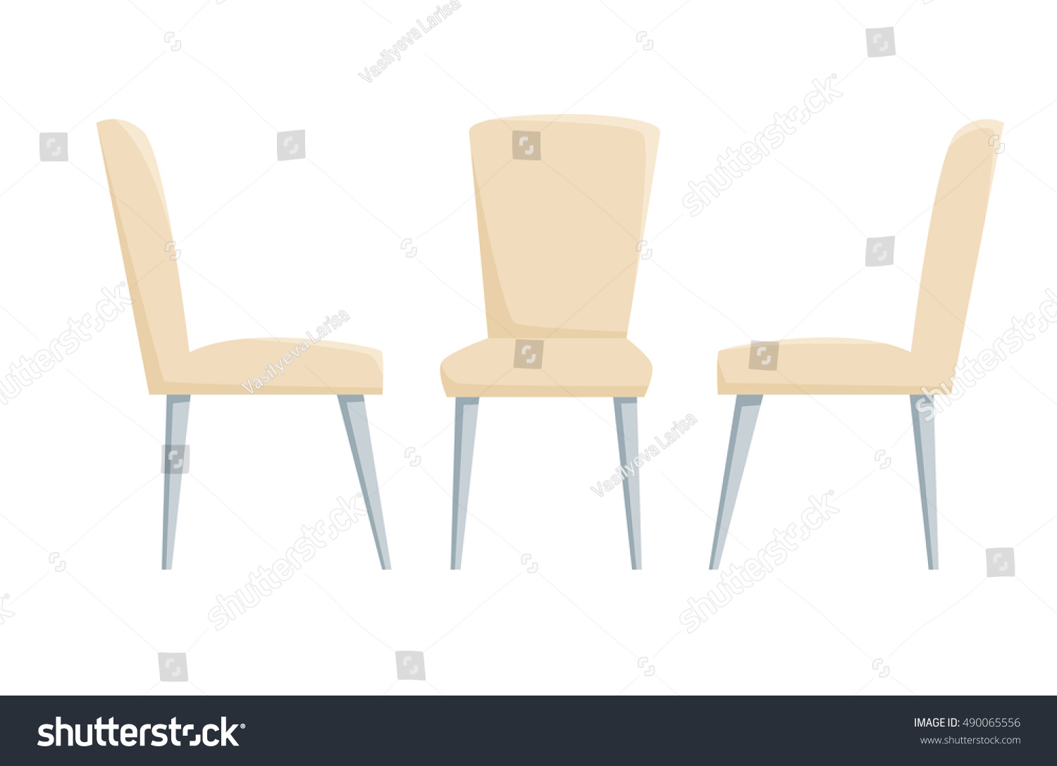 Modern chairs furniture office cafe restoran stock vector for Kitchen set restoran