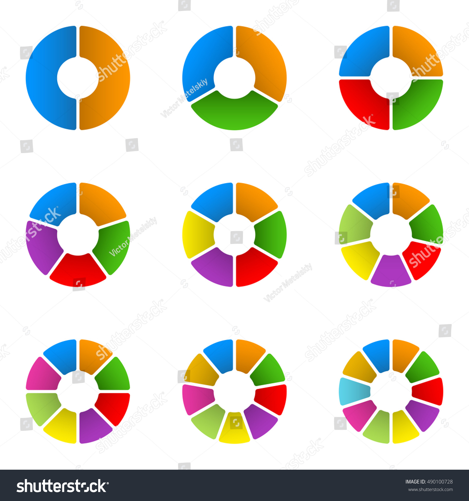 Circular diagram set pie chart template stock vector 490100728 pie chart template circle infographics concept with 23 nvjuhfo Gallery